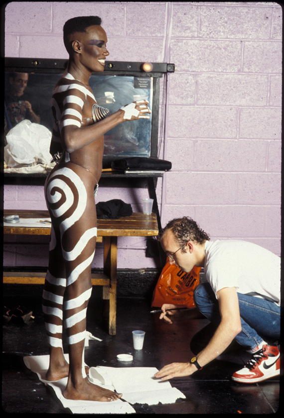 Keith haring and Grace Jones
