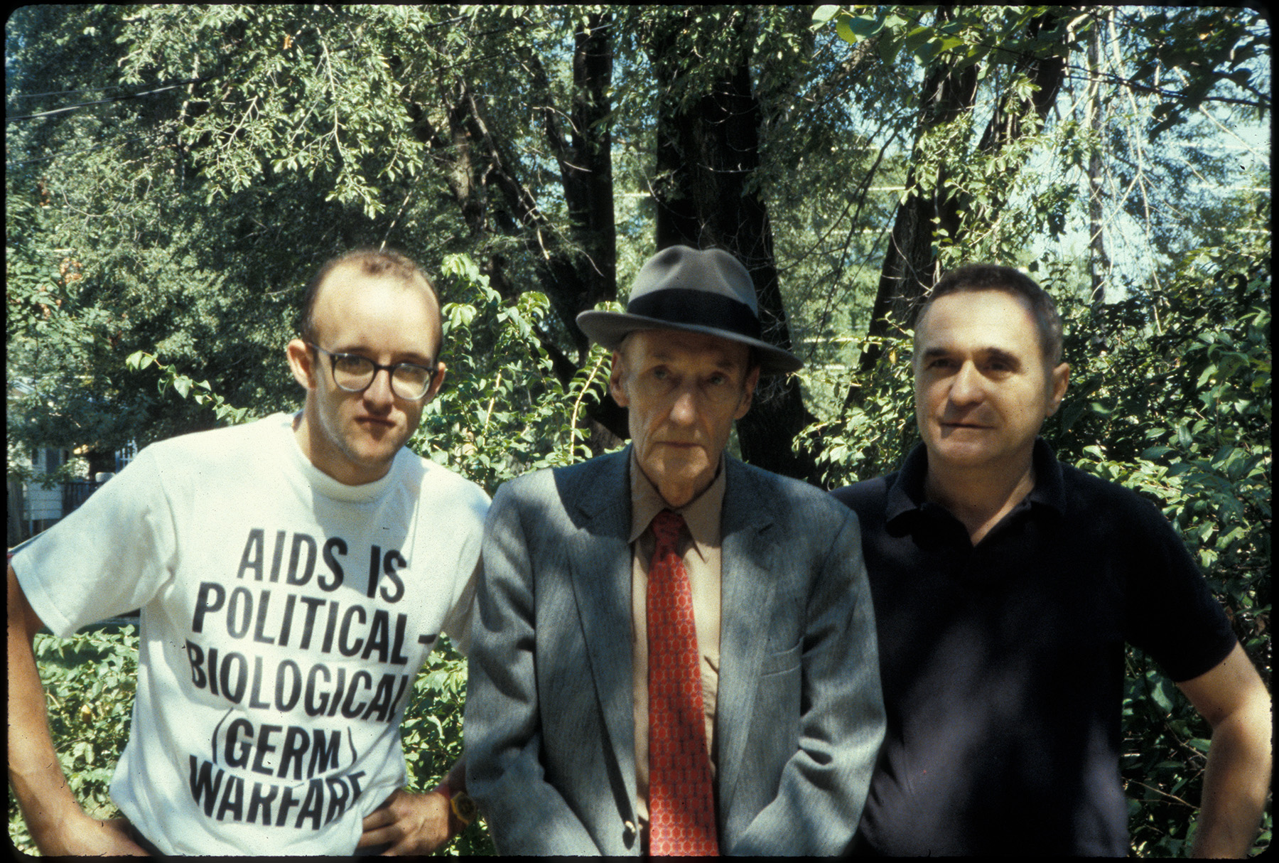 Keith Haring, Willliam Burroughs, and John Giorno in Kansas, 1987