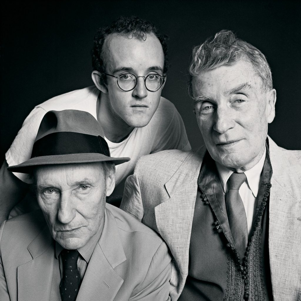 William Burroughs, Brion Gysin, and Keith Haring, Photo by Tseng Kwong Chi, 1985 © Muna Tseng Dance Projects, Inc., New York