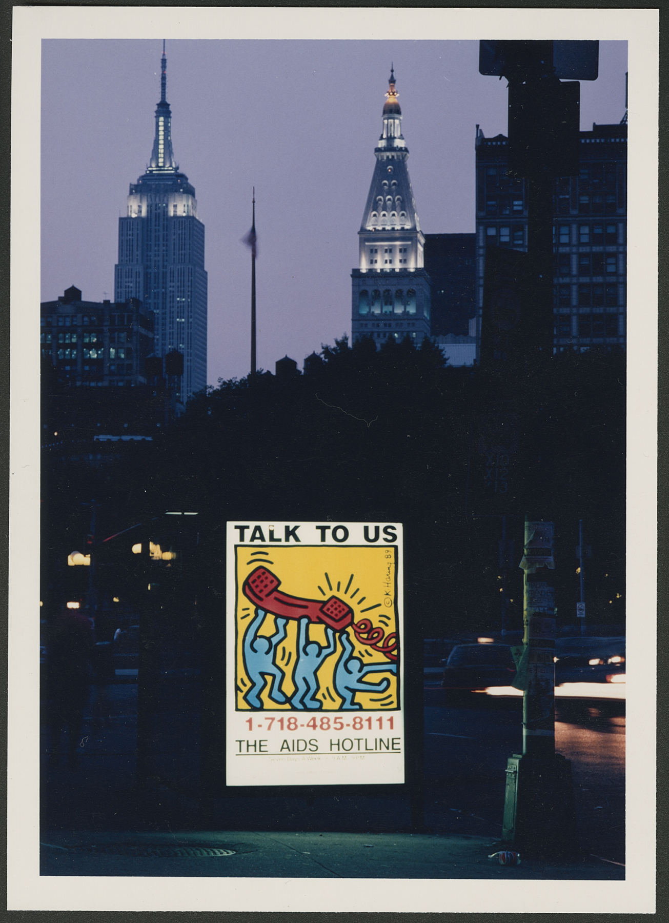AIDS Hotline poster, NYC, 1989