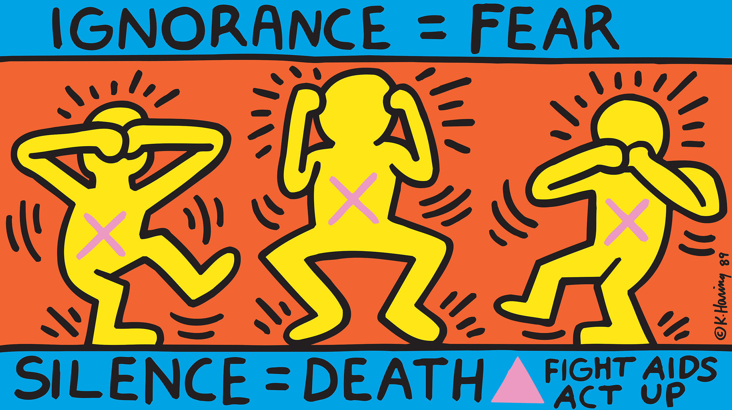 Ignorance = Fear, Silence = Death, Act Up poster, 1989