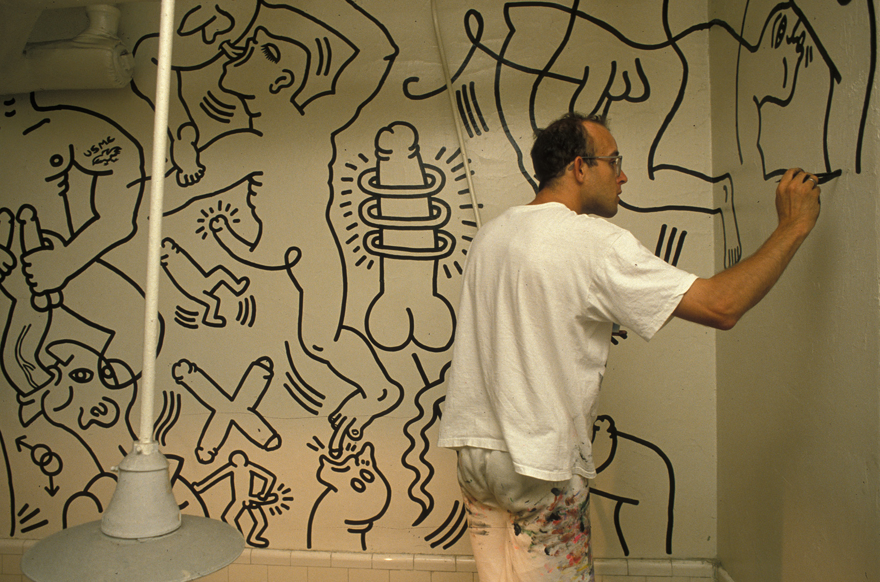 Keith Haring painting Once Upon a Time...